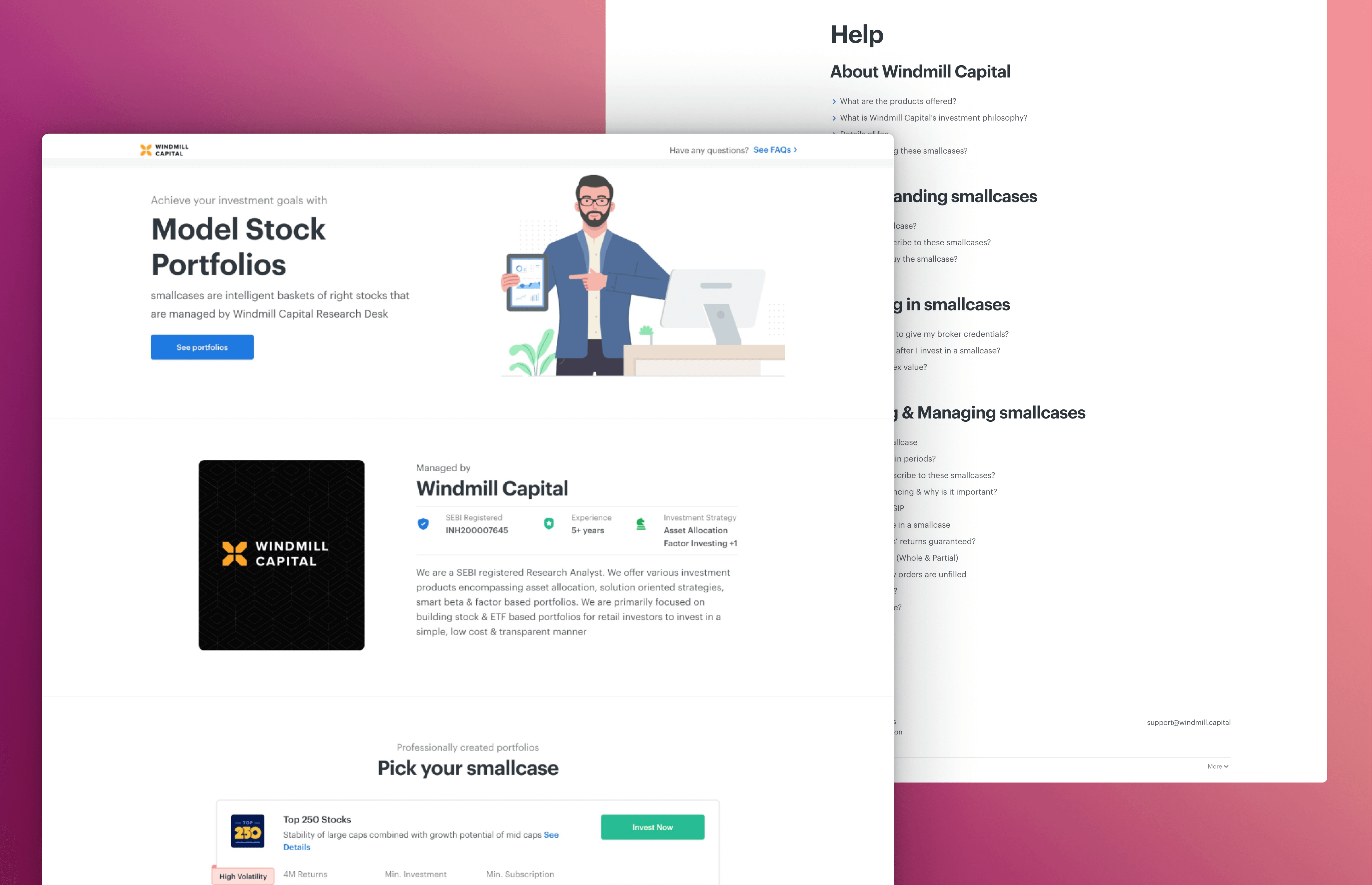 Microsite Landing and Help page using Next.js