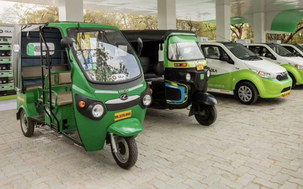 Ola Electric's e-autos, 4-wheelers, and charging station at Nagpur