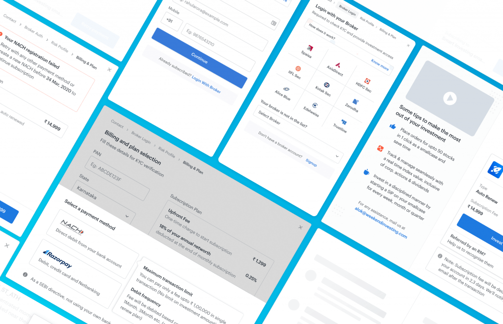 New Screens for Subscription Flow