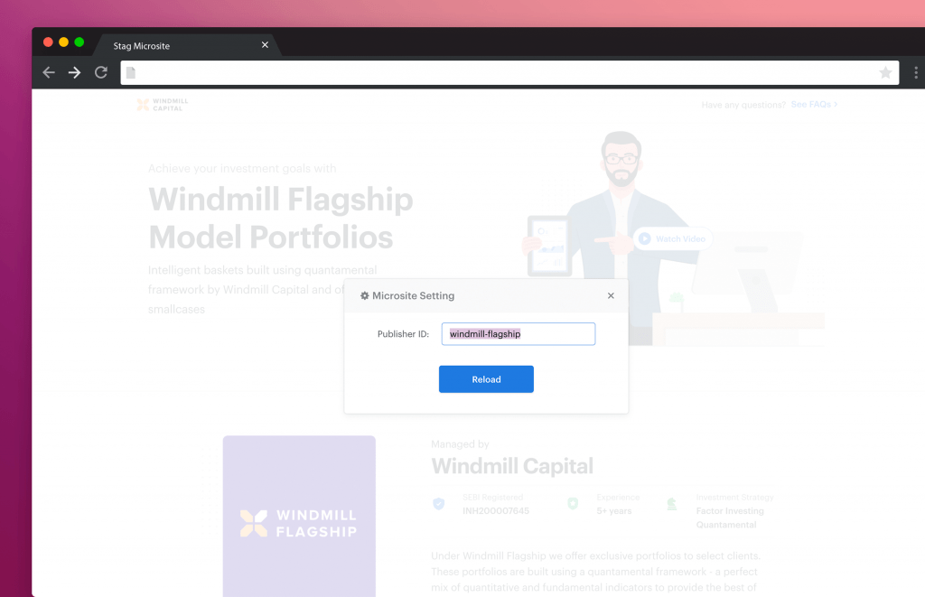 Staging and Dev setup of Microsite in Next.js